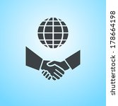 vector international business... | Shutterstock .eps vector #178664198