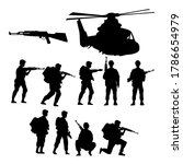 military soldiers with guns and ... | Shutterstock .eps vector #1786654979