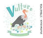 letter v   vulture. alphabet...   Shutterstock .eps vector #178667456