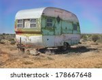 Vintage Weathered Trailer In...