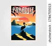 Paradise Beach Vintage Poster...