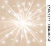 bright sunburst with sparkles | Shutterstock . vector #178670828