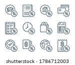 loan related vector line icon...