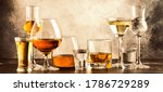 Set of strong alcoholic drinks...