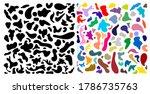 set of random vector blotch ... | Shutterstock .eps vector #1786735763