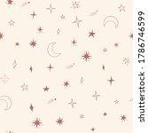 celestial seamless vector...   Shutterstock .eps vector #1786746599