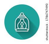 white line camping lantern icon ... | Shutterstock .eps vector #1786747490