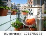 Summer Balcony With Hammock And ...