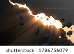 crack wall hole with light... | Shutterstock .eps vector #1786756079