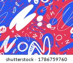 seamless abstract doodle... | Shutterstock .eps vector #1786759760