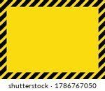 black and yellow striped blank... | Shutterstock .eps vector #1786767050