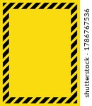 black and yellow striped blank... | Shutterstock .eps vector #1786767536