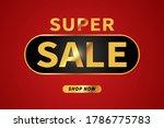 super sale banner design...   Shutterstock .eps vector #1786775783