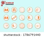 icon new normal information...   Shutterstock .eps vector #1786791440