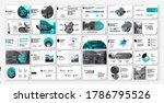geometric green presentation... | Shutterstock .eps vector #1786795526