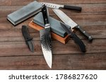 Assorted Knives And Sharpening...