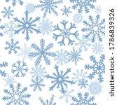 snowflake's seamless background.... | Shutterstock .eps vector #1786839326
