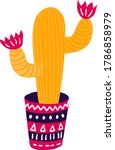 festively adorned mexican... | Shutterstock .eps vector #1786858979