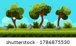 Seamless Background With Trees...