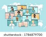 screens with international...   Shutterstock .eps vector #1786879700