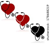 vector icon set showing a heart ... | Shutterstock .eps vector #178688219