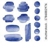 dark navy blue watercolor cute... | Shutterstock .eps vector #1786882976