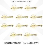 color anniversary sign... | Shutterstock .eps vector #178688594