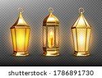 vintage gold arabic lanterns... | Shutterstock .eps vector #1786891730