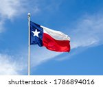 Texas State Flag On The Pole...