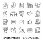 voting and election icons set.... | Shutterstock .eps vector #1786921883