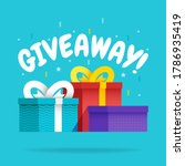 giveaway for promo in social...   Shutterstock .eps vector #1786935419
