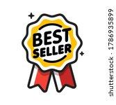 best seller badge. best seller...   Shutterstock .eps vector #1786935899