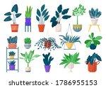 green houseplants in pots icon...   Shutterstock .eps vector #1786955153