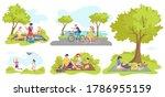 picnic outdoor in summer ... | Shutterstock .eps vector #1786955159