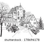 pedestrian street in the old... | Shutterstock .eps vector #178696178