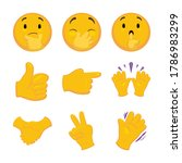 emoji set with thinking face ... | Shutterstock .eps vector #1786983299