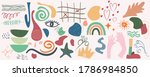 hand drawn various shapes and... | Shutterstock .eps vector #1786984850