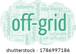 off grid word cloud isolated on ... | Shutterstock .eps vector #1786997186