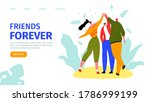 friends forever  happy...   Shutterstock .eps vector #1786999199