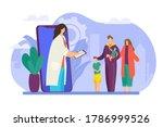 family doctor consultation in... | Shutterstock .eps vector #1786999526