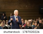 Small photo of Sparks, Nevada / USA - January 10 2020: Former Vice President and presidential candidate, Joe Biden, held a rally at Sparks High School ahead of the Nevada Democratic Caucuses.