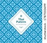 blue classic thai seamless... | Shutterstock .eps vector #1787033699