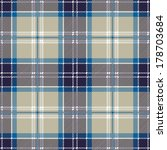 Blue Seamless Tartan Plaid Patter