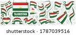 vector set of the national flag ... | Shutterstock .eps vector #1787039516