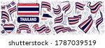 vector set of the national flag ... | Shutterstock .eps vector #1787039519