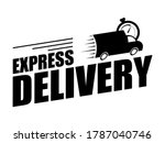 express delivery concept icon.... | Shutterstock .eps vector #1787040746