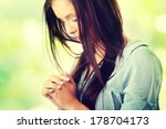 closeup portrait of a young... | Shutterstock . vector #178704173