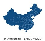 china map in blue color with... | Shutterstock .eps vector #1787074220