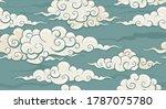 seamless cloud pattern in retro ... | Shutterstock .eps vector #1787075780