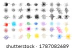 set of hand drawn scribble... | Shutterstock .eps vector #1787082689